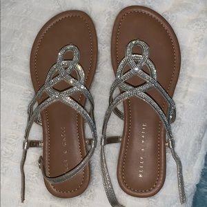 7 rhinestone sandals